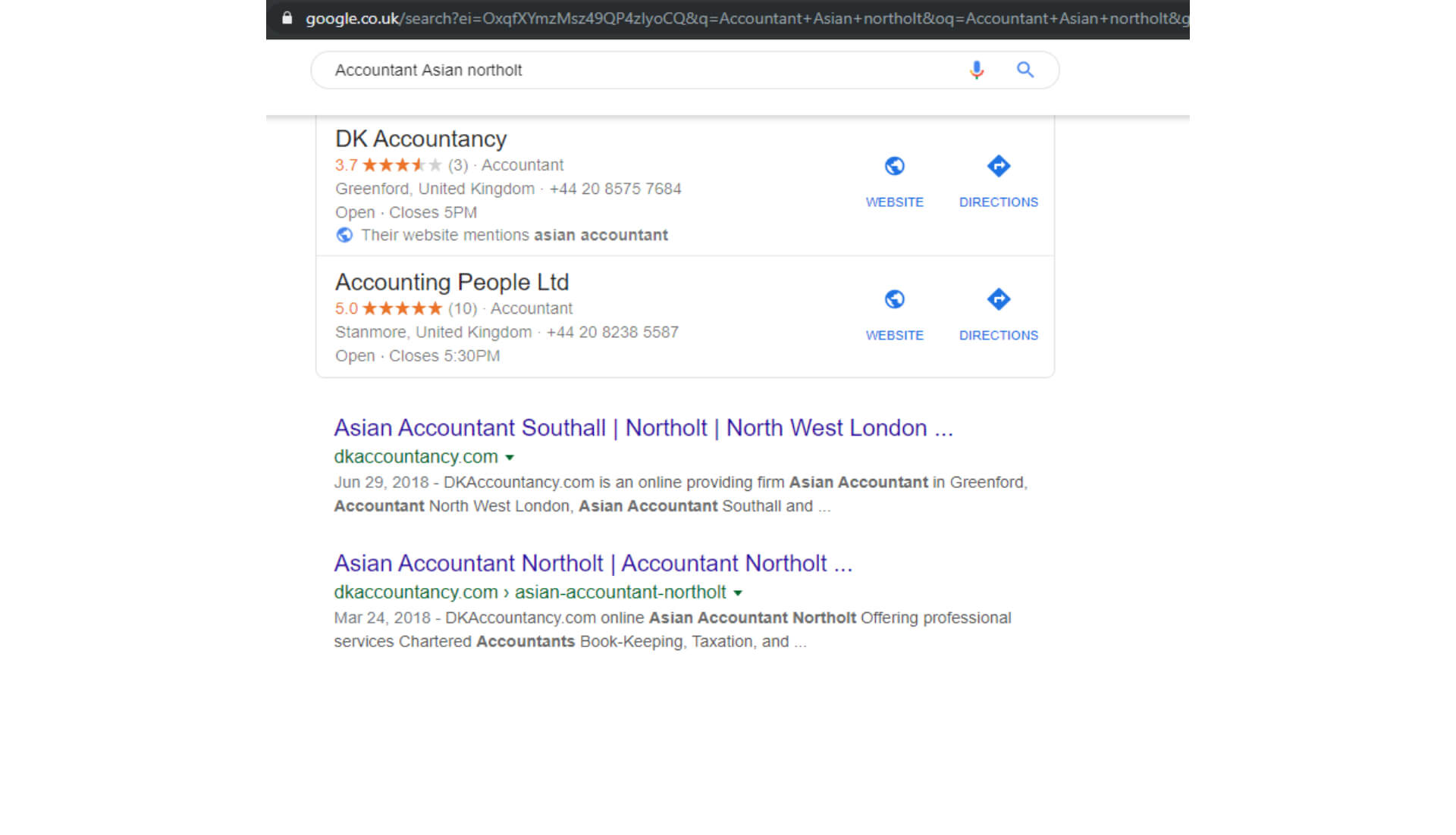 Accountant Asian northolt