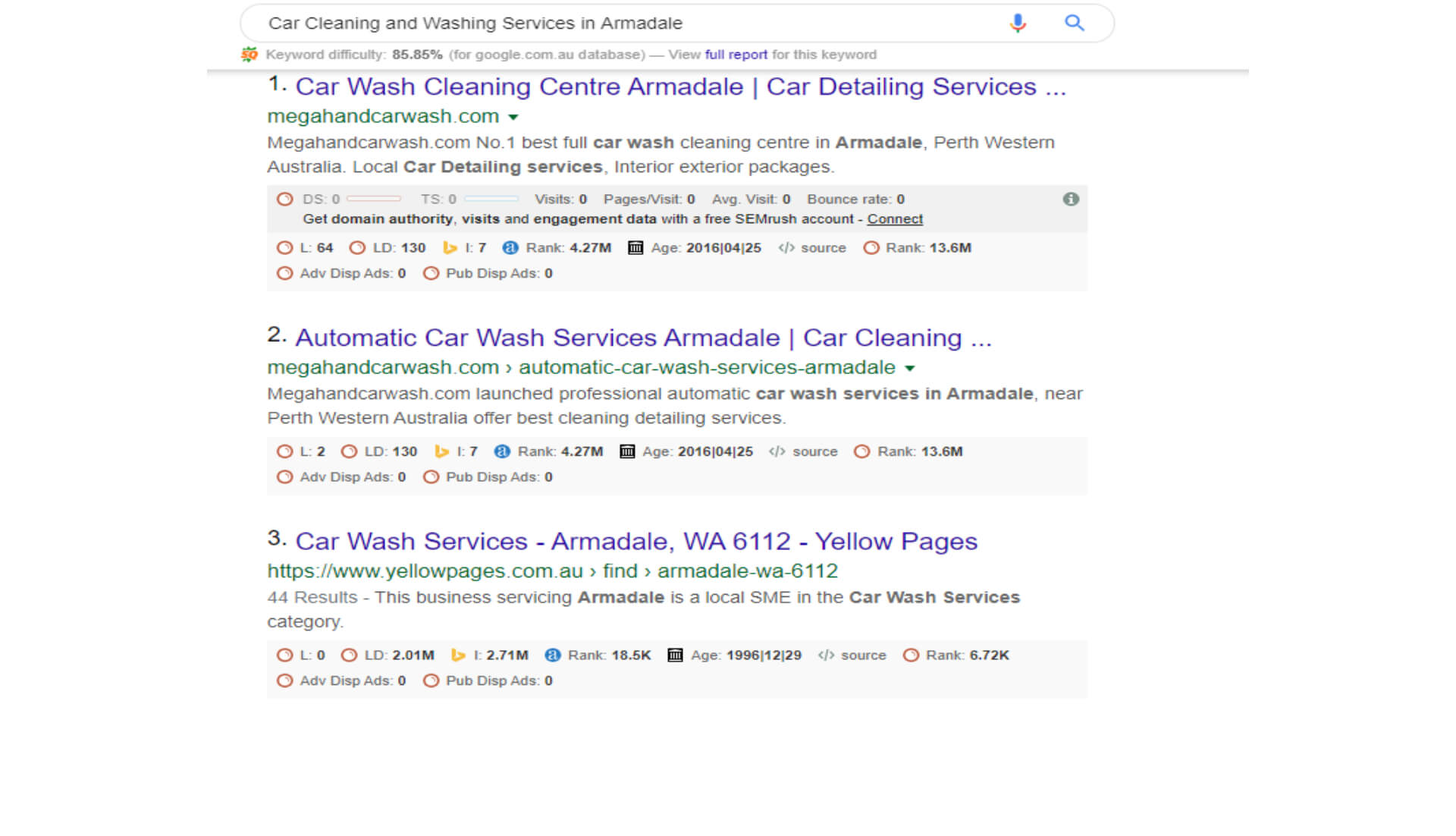 Car Cleaning and Washing Services in Armadale