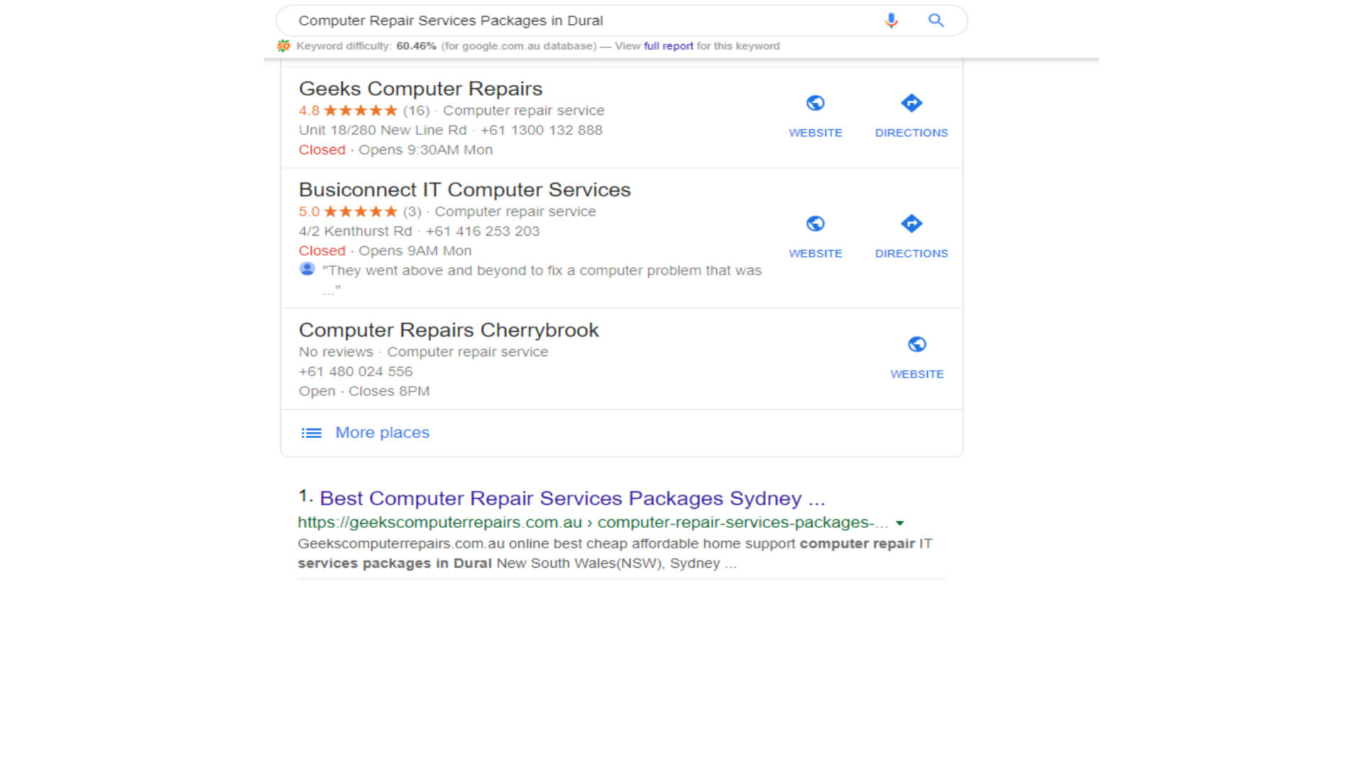 Computer Repair Services Packages in Dural