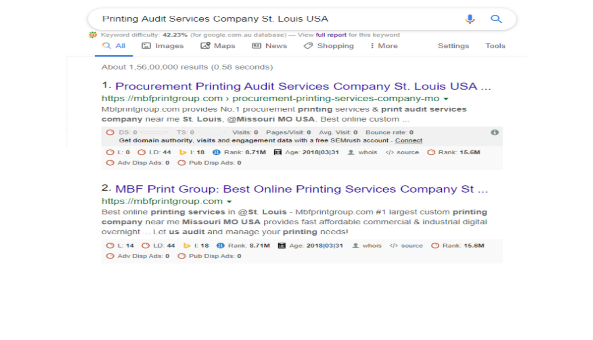 Printing Audit Services Company St.-Louis USA