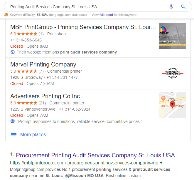 Printing Audit Services Company St. Louis USA