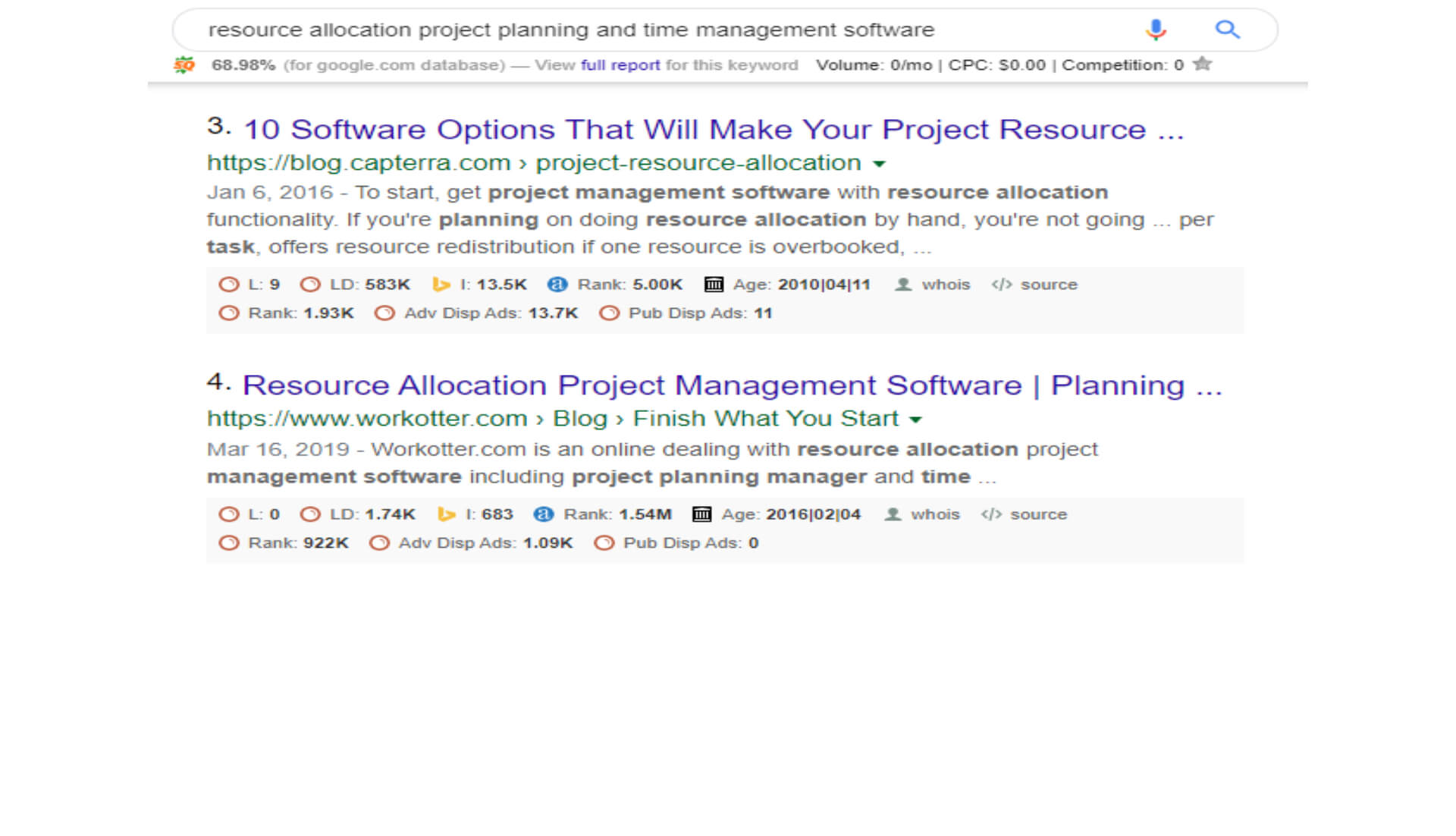 resource allocation project planning and time management software
